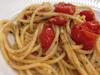 ミニトマトとボッタルガのスパゲッティ